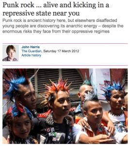 Punk Rock in oppressive regimes